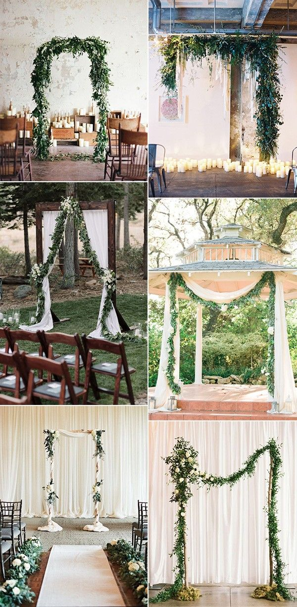 18 Trending Wedding Arch Ideas with Greenery Garlands – Page 2 of 2
