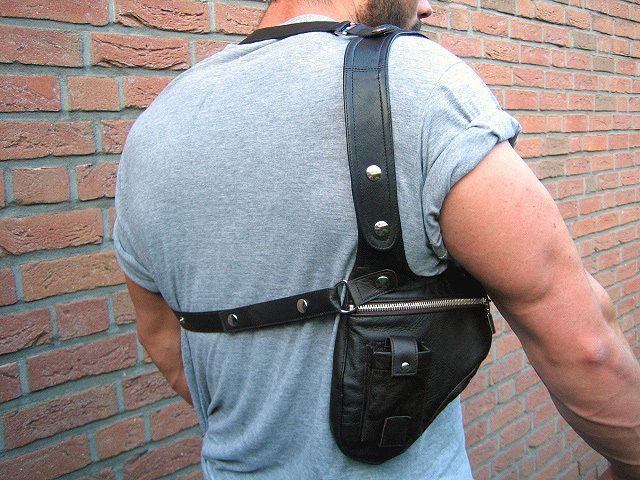 Revolverbag Men Holster Bag Halter от Annashandmadebags