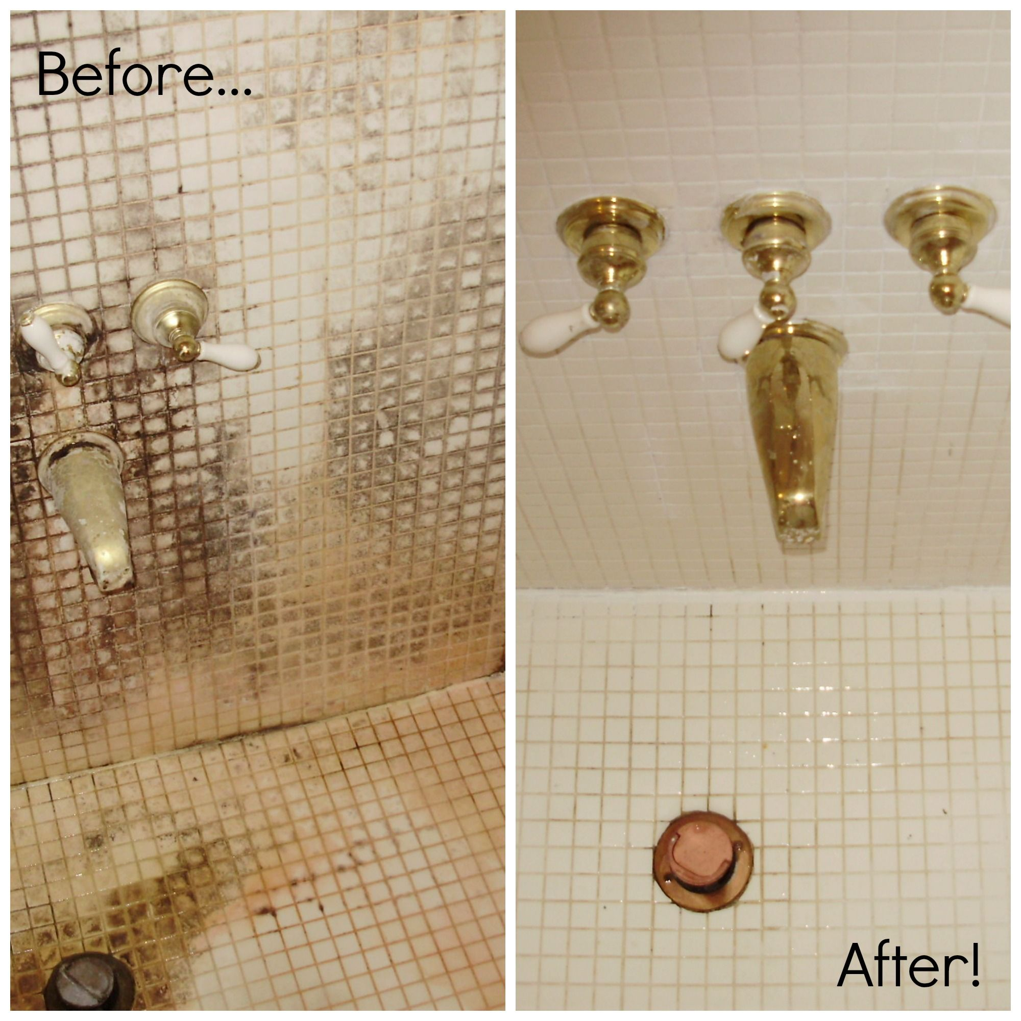 Before And After Picture Of Shower Tile. Tile Grout CleaningGrout ...