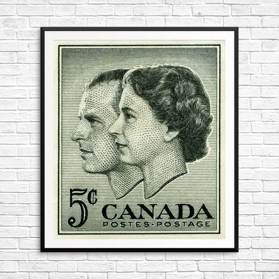 Queen elizabeth vintage wall art queen elizabeth 2 canada posters canadian wall art canada decor pub decor canada stamps art prints
