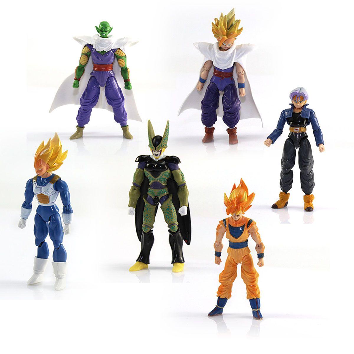 6pcs Anime Dragonball Z Dragon ball DBZ Goku Piccolo Action Figure Toy Set NEW