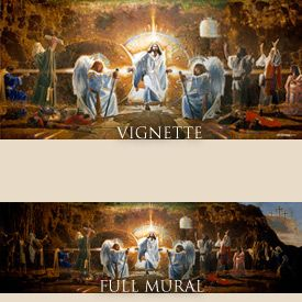 the resurrection mural christian art christian framed prints tapestry productions
