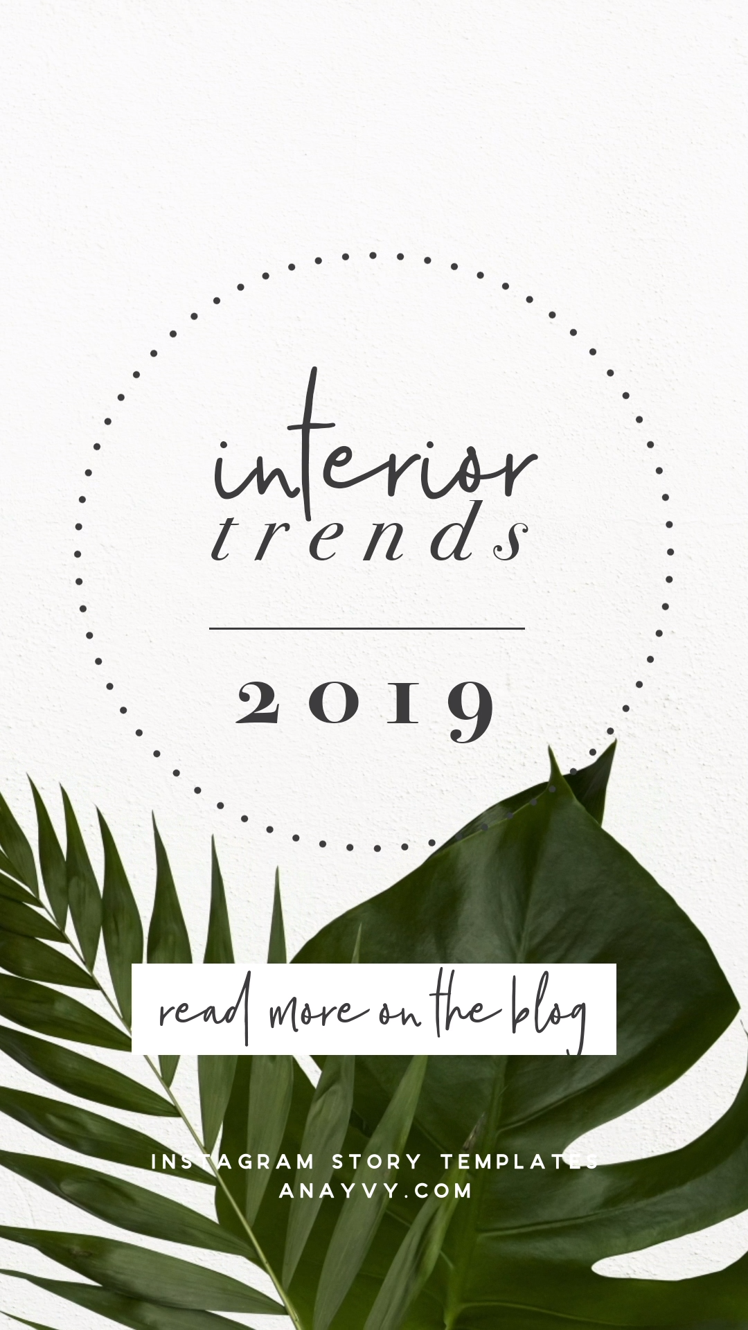 Animated Instagram Story Templates |tropical palm