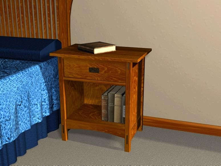 Night Stand Designs : Mission style open night stand furniture plans best