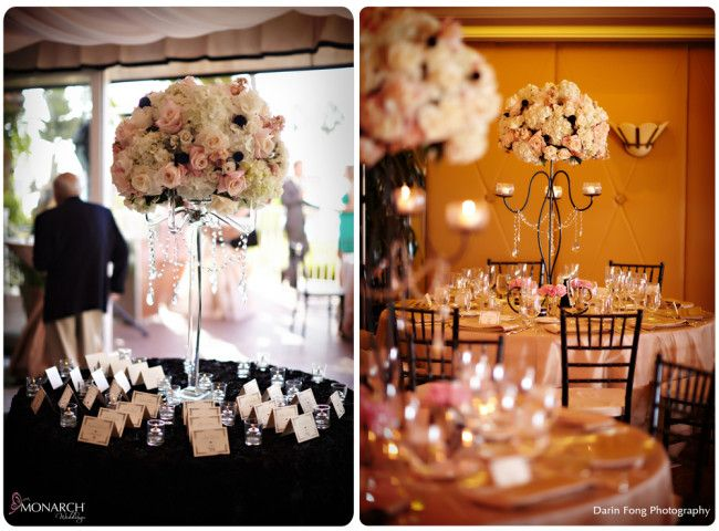 Beautiful Blush Black And White La Valencia Wedding Part 2