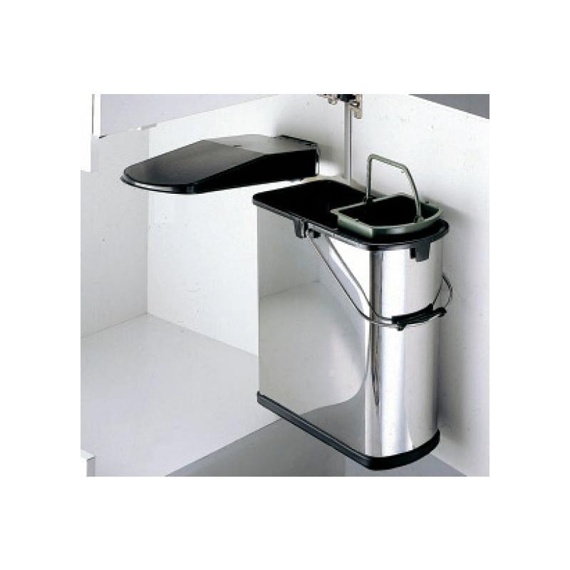 einbau abfallsammler 19 l edelstahl schwarz wesco 5 l bioeinsatz ab 45 cm schrank dreht r. Black Bedroom Furniture Sets. Home Design Ideas