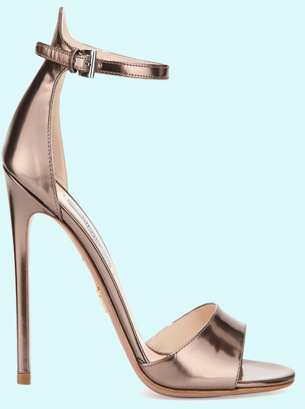 Brilliant Luxury by Emmy DE * Prada Metallic Leather High-Heel Sandal #sasso