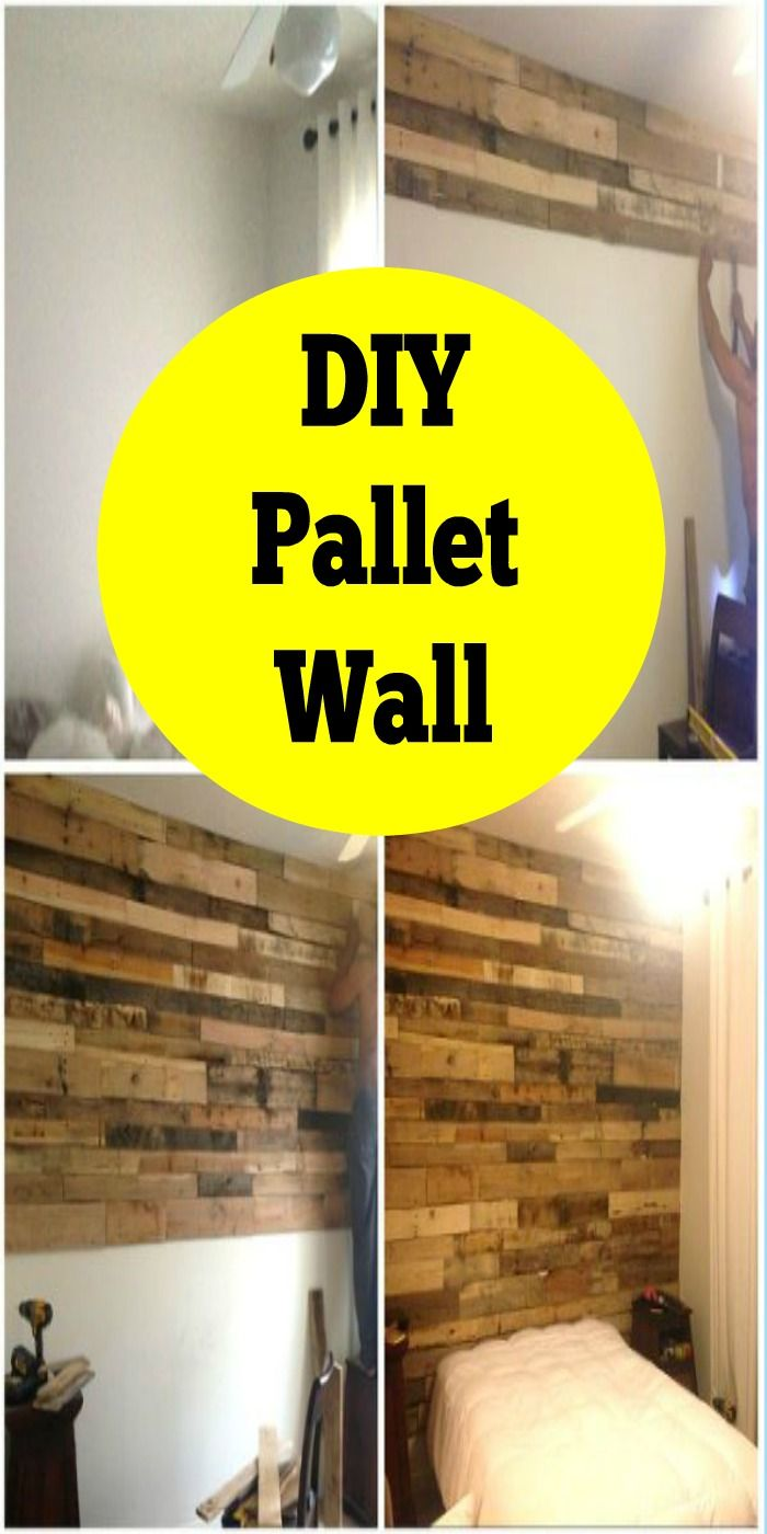 Pallet Accent Wall Home Tutorial | Pallets, Walls and Pallet projects