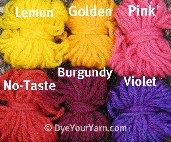 dyeyouryarn.com - Has color charts and tell you how to dye using ...