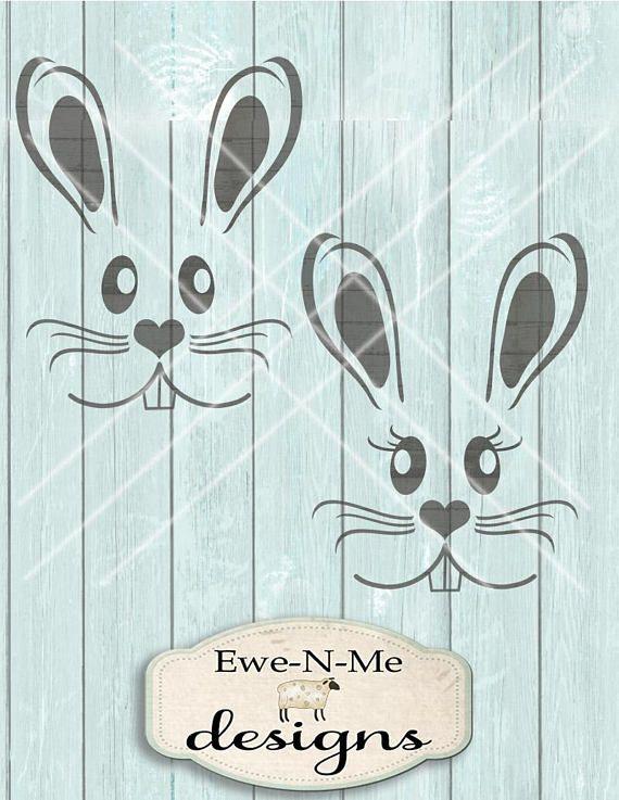Ostern SVG - Osterhase Svg - Ostern Kaninchen SVG - Hase Gesicht Svg - Kaninchen Gesicht Svg