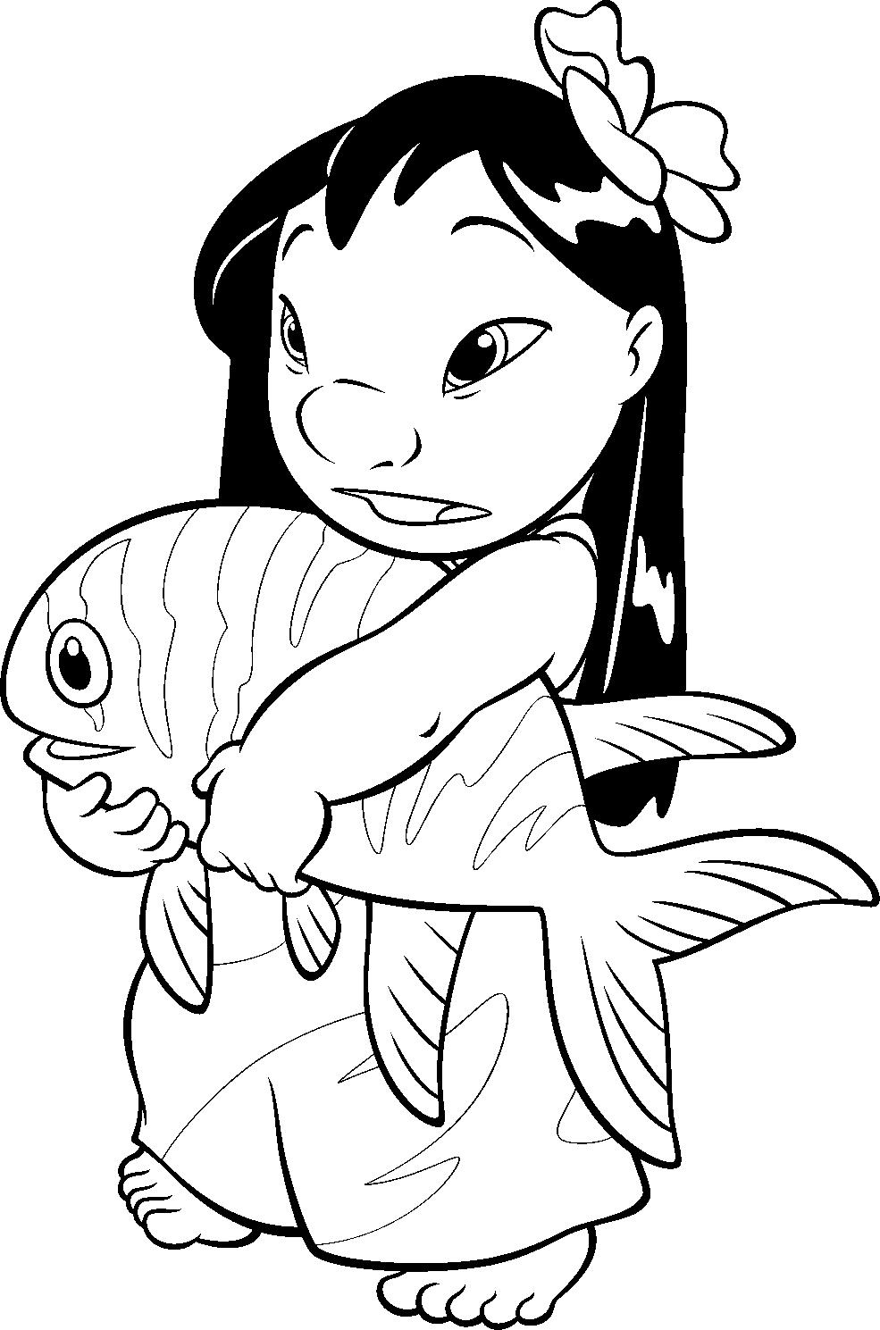 Princesas Disney: Dibujos para colorear de Lilo y Stitch | comic ...