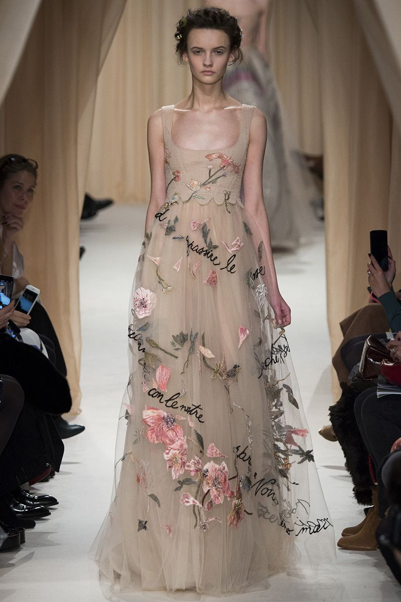 Valentino Spring 2015 Couture Runway – Vogue there is is on the runway! my favorite dress from the Oscars this year. Would love to say it's the one I would rock out...but it would be way too pale for me I think :(