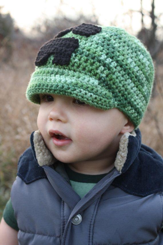 Minecraft Creeper Hat EASY Crochet PDF Pattern - Infant, Toddler ...