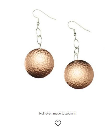 Contemporary Hammered Copper Disc Earrings Showcased by #Polyvore #Copper #CopperEarrings http://www.polyvore.com/john_brana_hammered_copper_disc/thing?context_id=2963804&context_type=user_fav&id=76698337