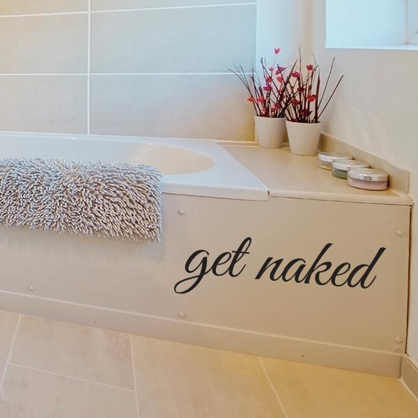Lovely Get Naked Wall Decal