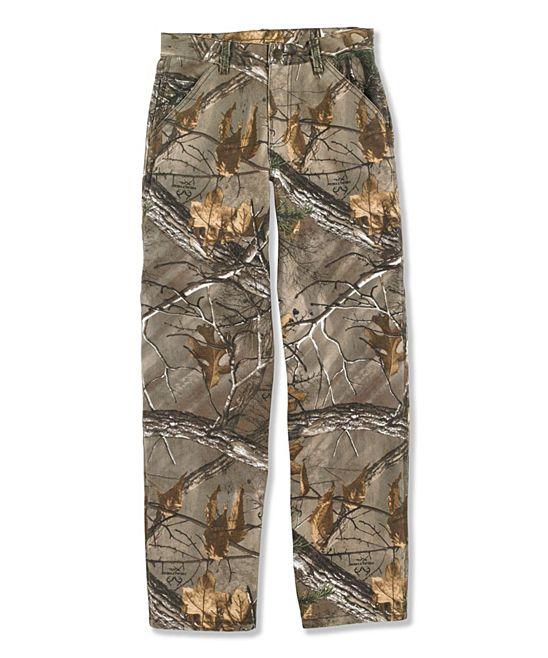 68446b1b51045 Realtree Xtra® Camo Canvas Pants - Boys | Products | Pants