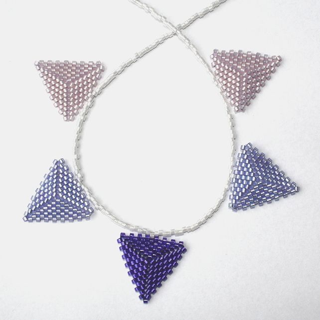 Pale Purples Beaded Bunting Necklace £15.00
