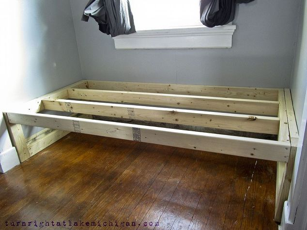 Our Window Seat Family Library Diy Daybed Home Library Diy Diy Window Seat
