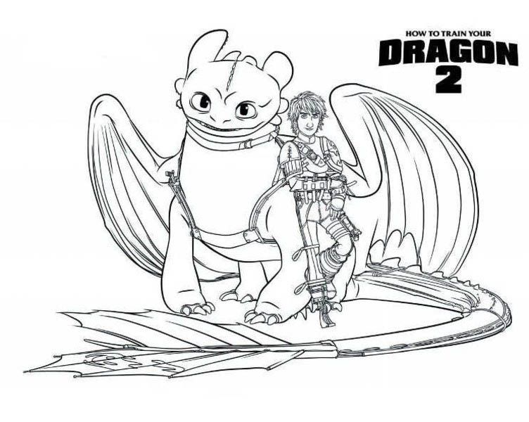 How To Train Your Dragon Toothless Coloring Pages