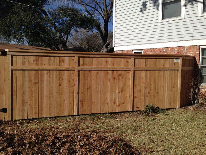 6 Ft Custom Cedar Cap Trim Privacy Fence Wood Fence Fence