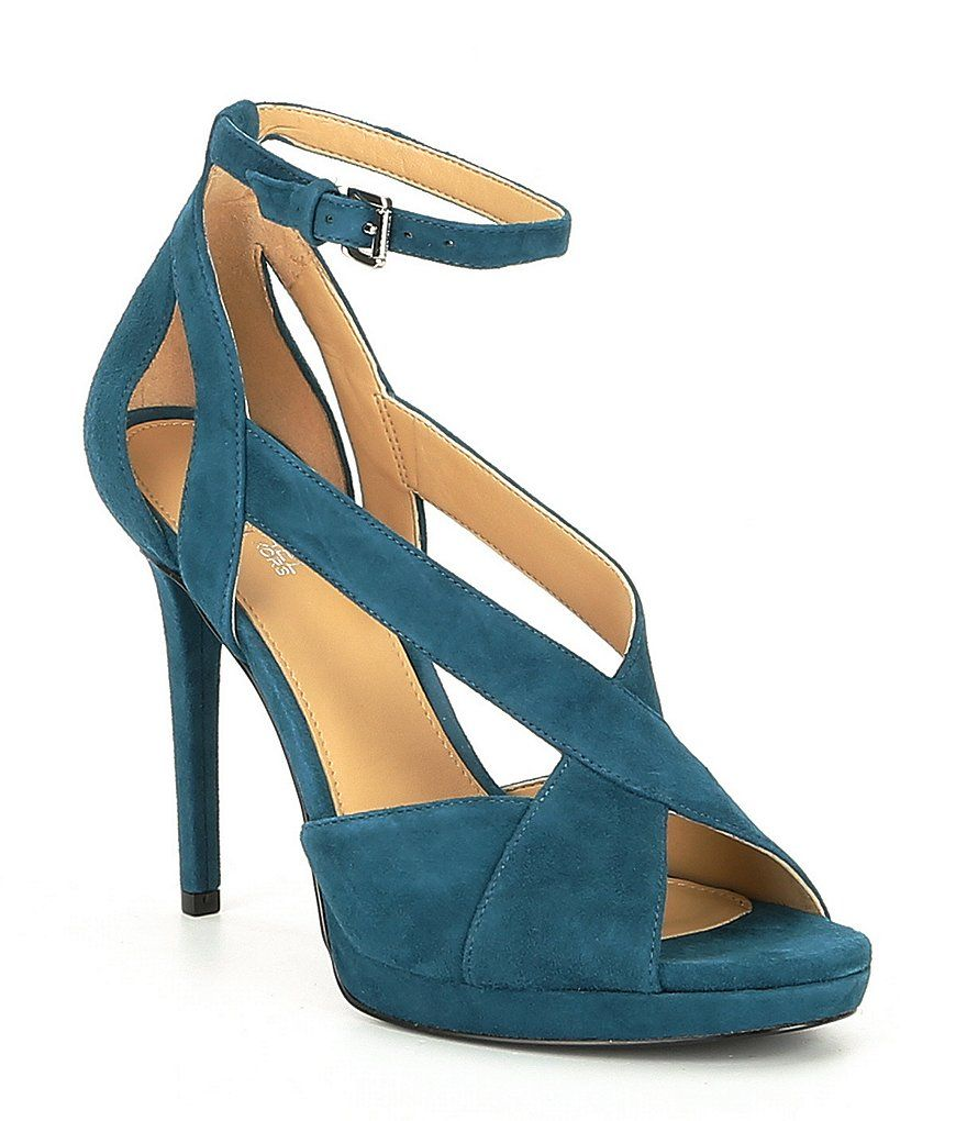 dd538f0aff7 MICHAEL Michael Kors Becky Suede Ankle Strap Sandals