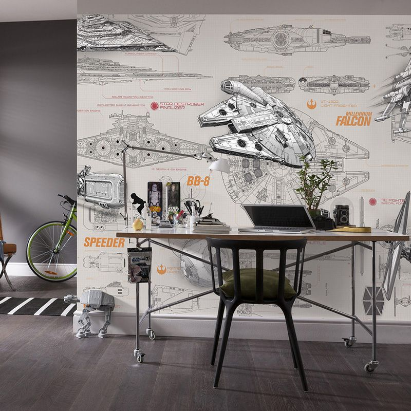 Find More Wallpapers Information about 3D Star Wars Wallpaper Wall - copy blueprint lsat glassdoor
