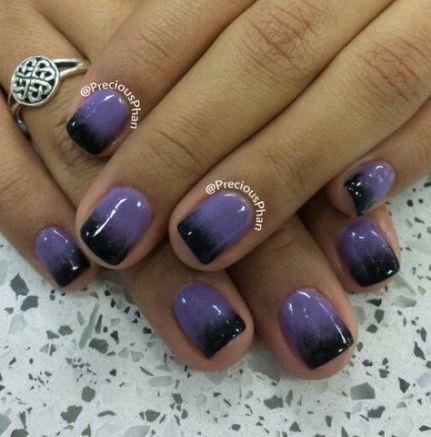 nails purple ombre black 50 ideas in 2020  purple ombre