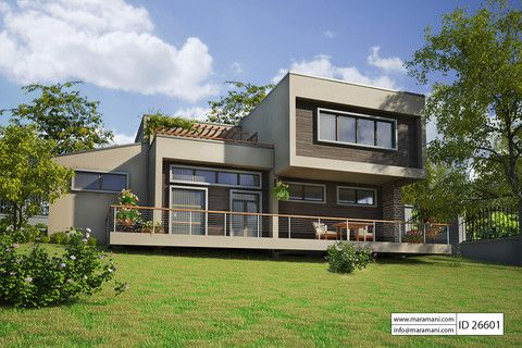 This Modern And Elegant Plan Contains 6 Bedrooms Which Are All Amazing 6 Bedroom House Designs Inspiration Design