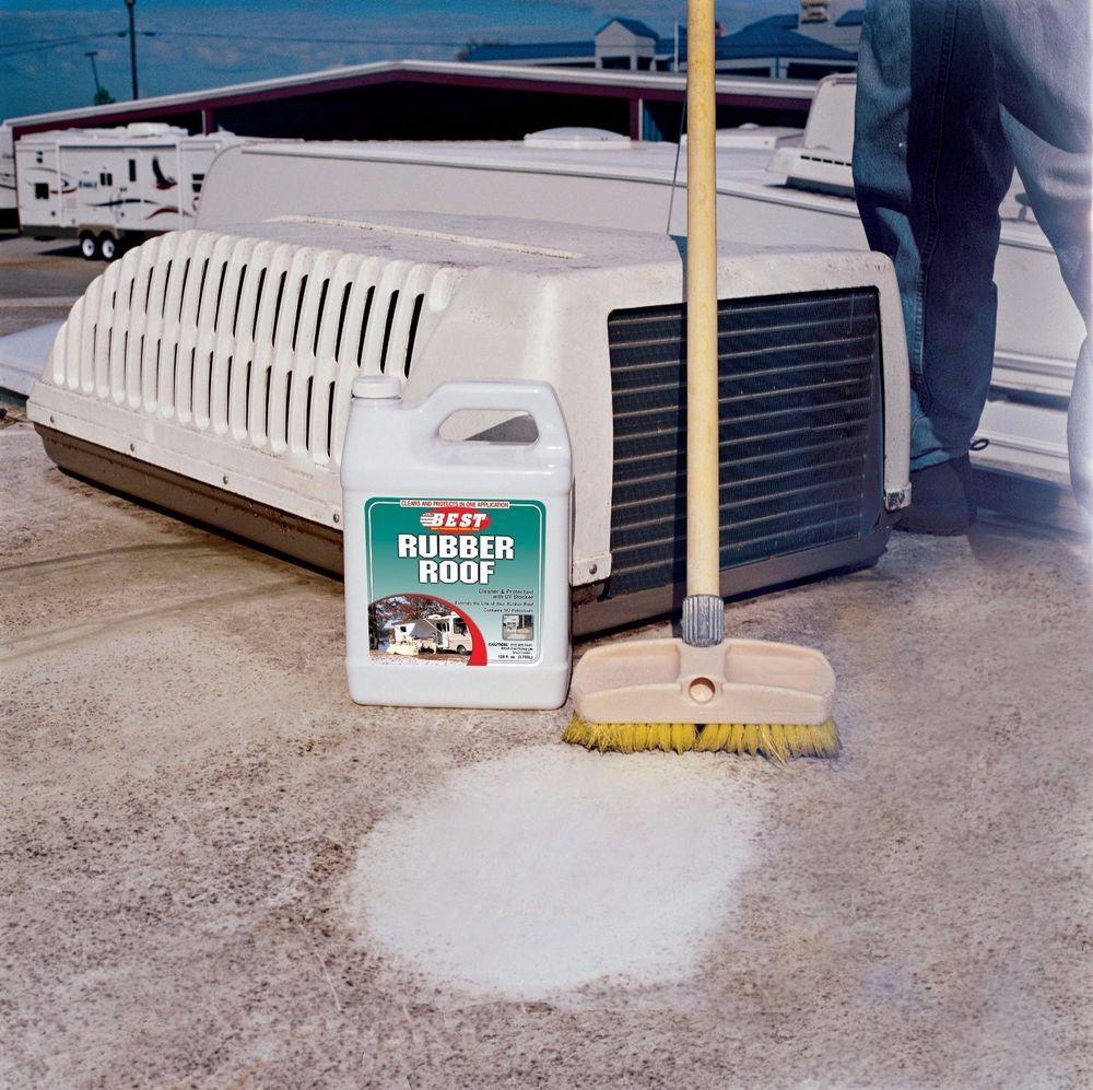 B.E.S.T. 55048 Rubber Roof Cleaner & Protectant Bottle - 48 oz. #BEST