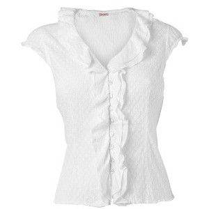 Women's Phase Eight Cap sleeve ruffle blouse White Online ...