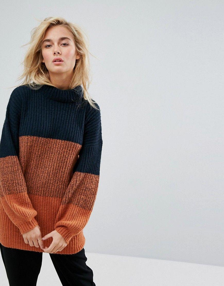 In Sweater Copenhagen Moss Color Relaxed Block Knits Longline dtIwqvRrwB