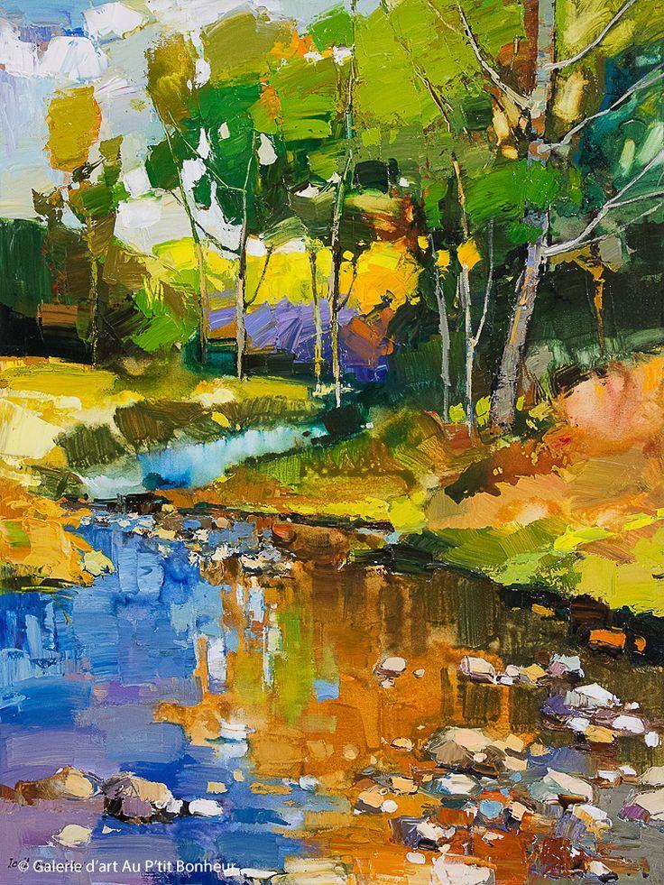 Iosif Derecichei Shallow Stream 30 X 40 Galer 39shallow Derecichei Galer Iosif St Abstract Art Landscape Landscape Art Abstract Art Painting