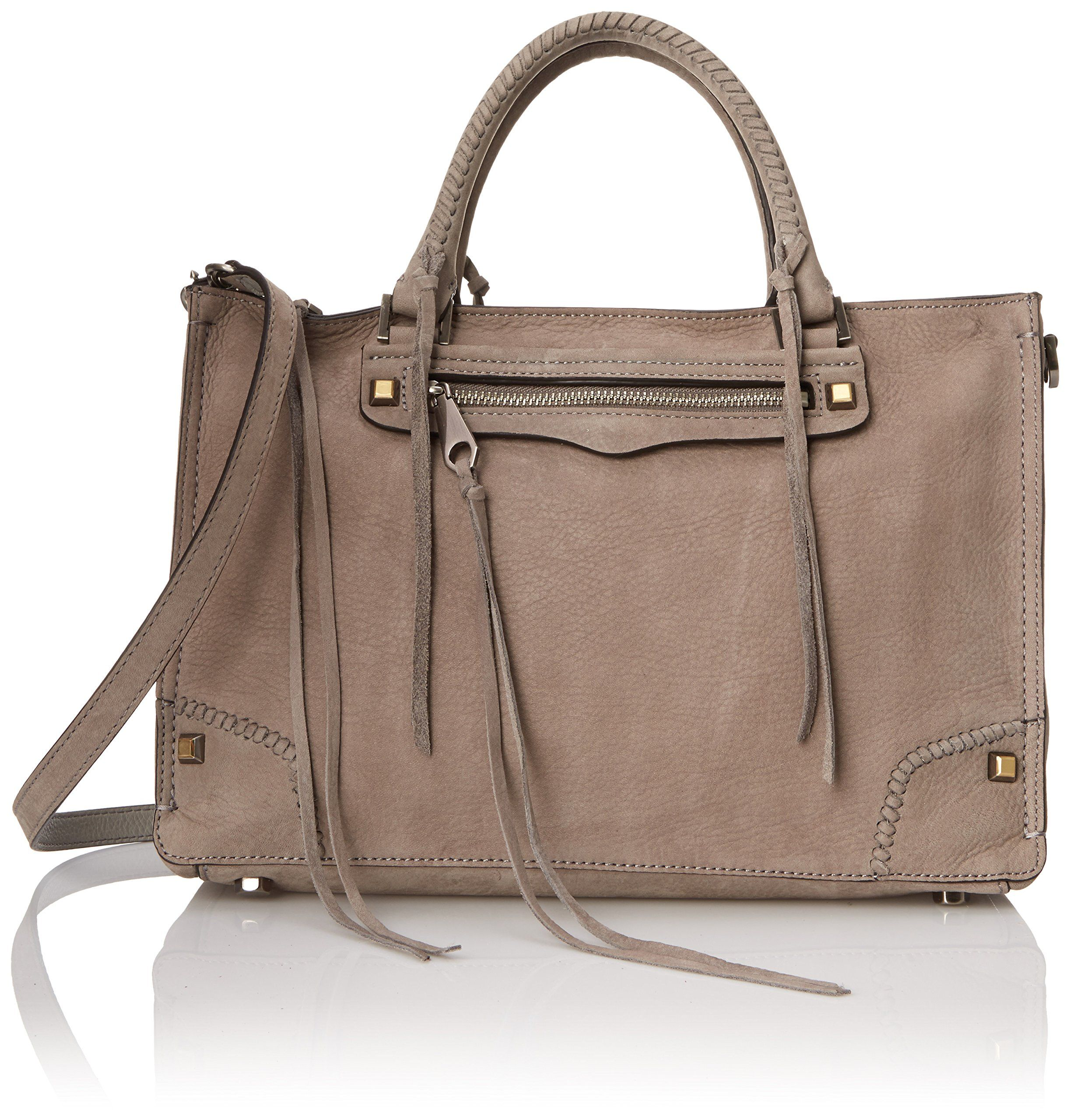 Amazon.com  Rebecca Minkoff Regan Satchel Top Handle Bag 253b304ff3e66