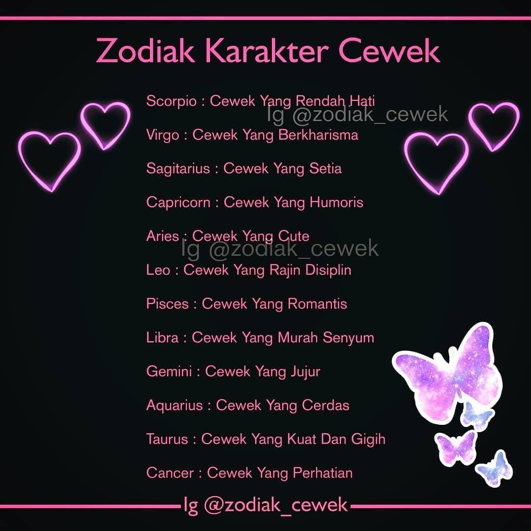 Repost Zodiak Cewek Karaktermu Yang Mana Girls Tulis Di