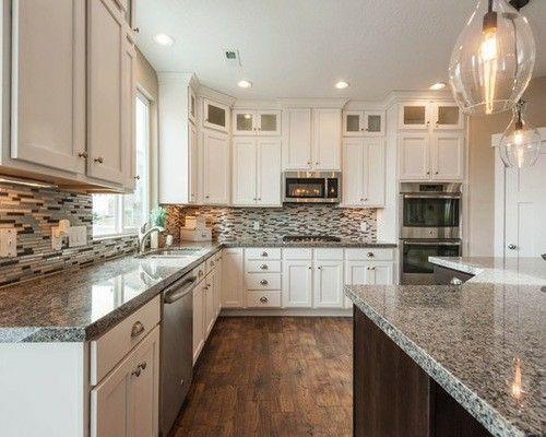 New Caledonia Granite With White Cabinets Granite Kitchen White
