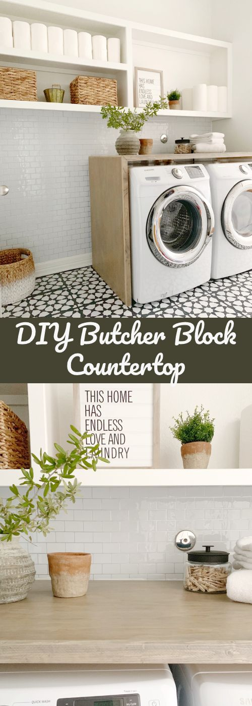 Samsung Washer And Dryer Love In 2020 Butcher Block Countertops