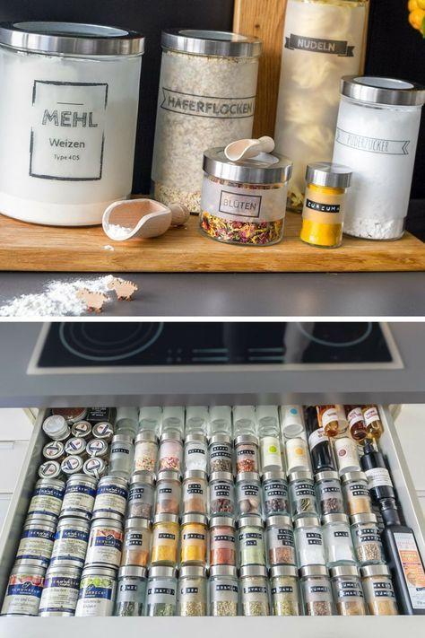 Aufbewahrung \/\/ Schublade \/ Ikea house interior and diy hacks - schubladen ordnungssystem küche