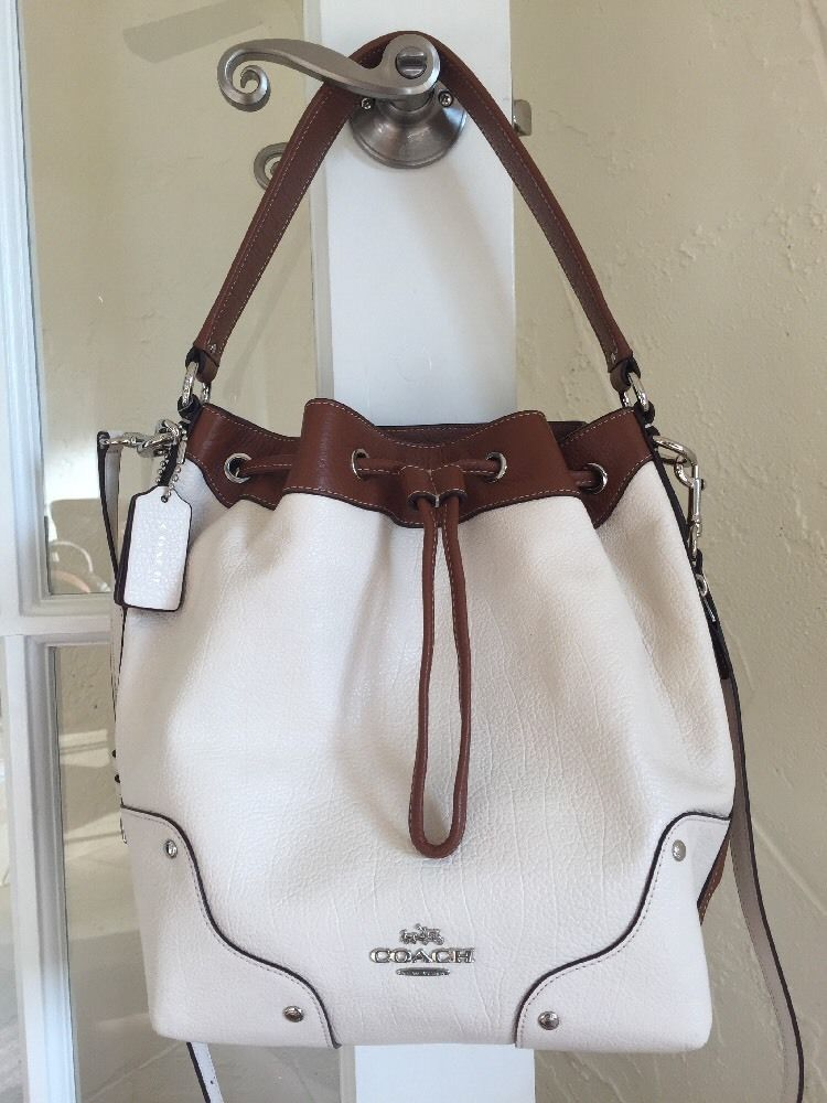 Coach F37680 Mickie Drawstring Shoulder Bag in Spectator Leather ...