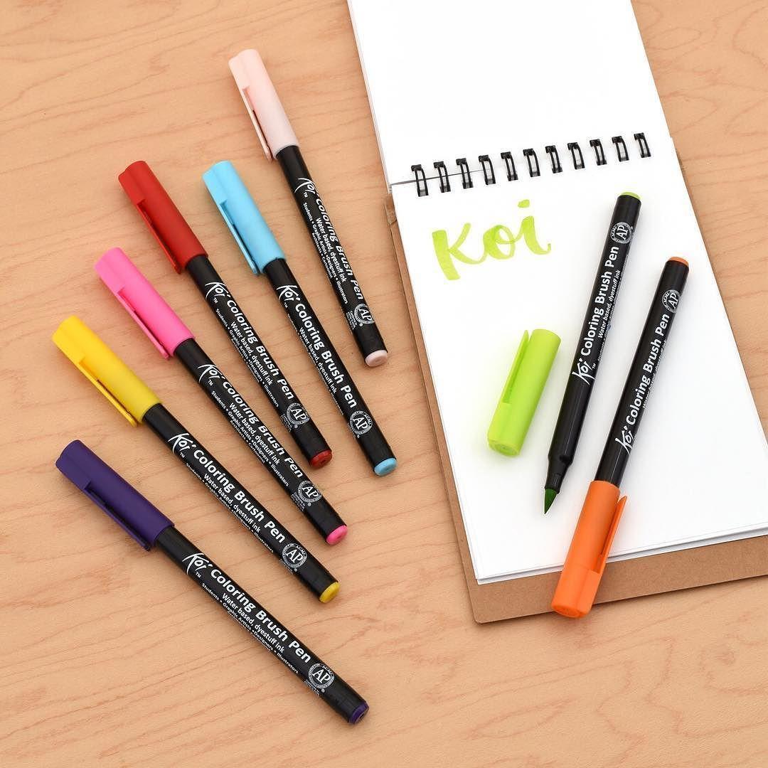 The Sakura Koi Coloring Brush Pens have durable felt tips and ...
