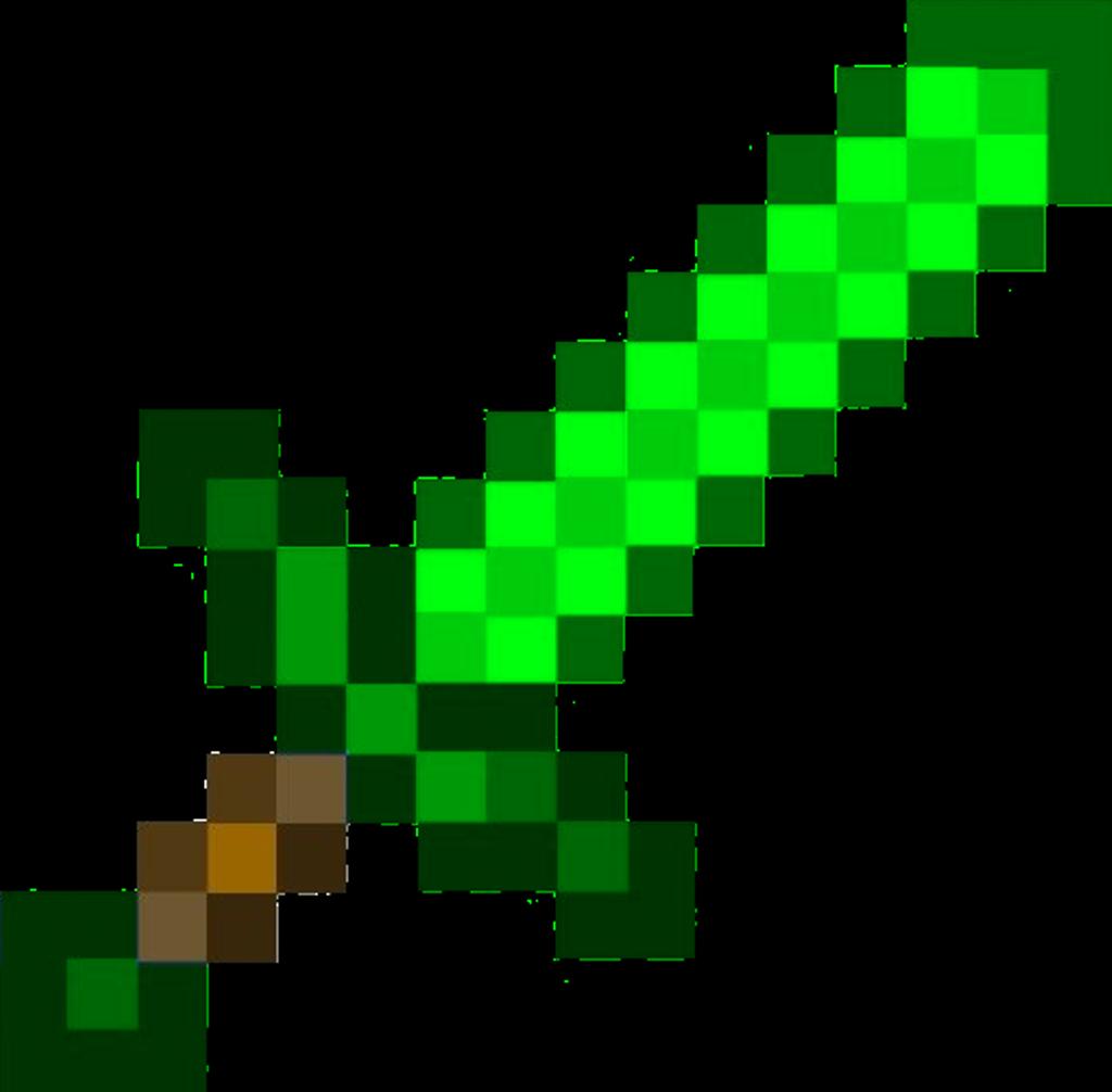 Green Sword 1 Minecraft Sword Minecraft Beads Minecraft Crafts