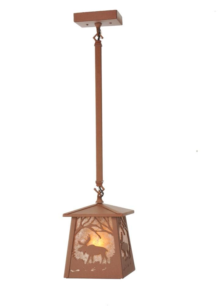 "Meyda 98768 - 7""Sq Moose at Dawn Mini Pendant Light"