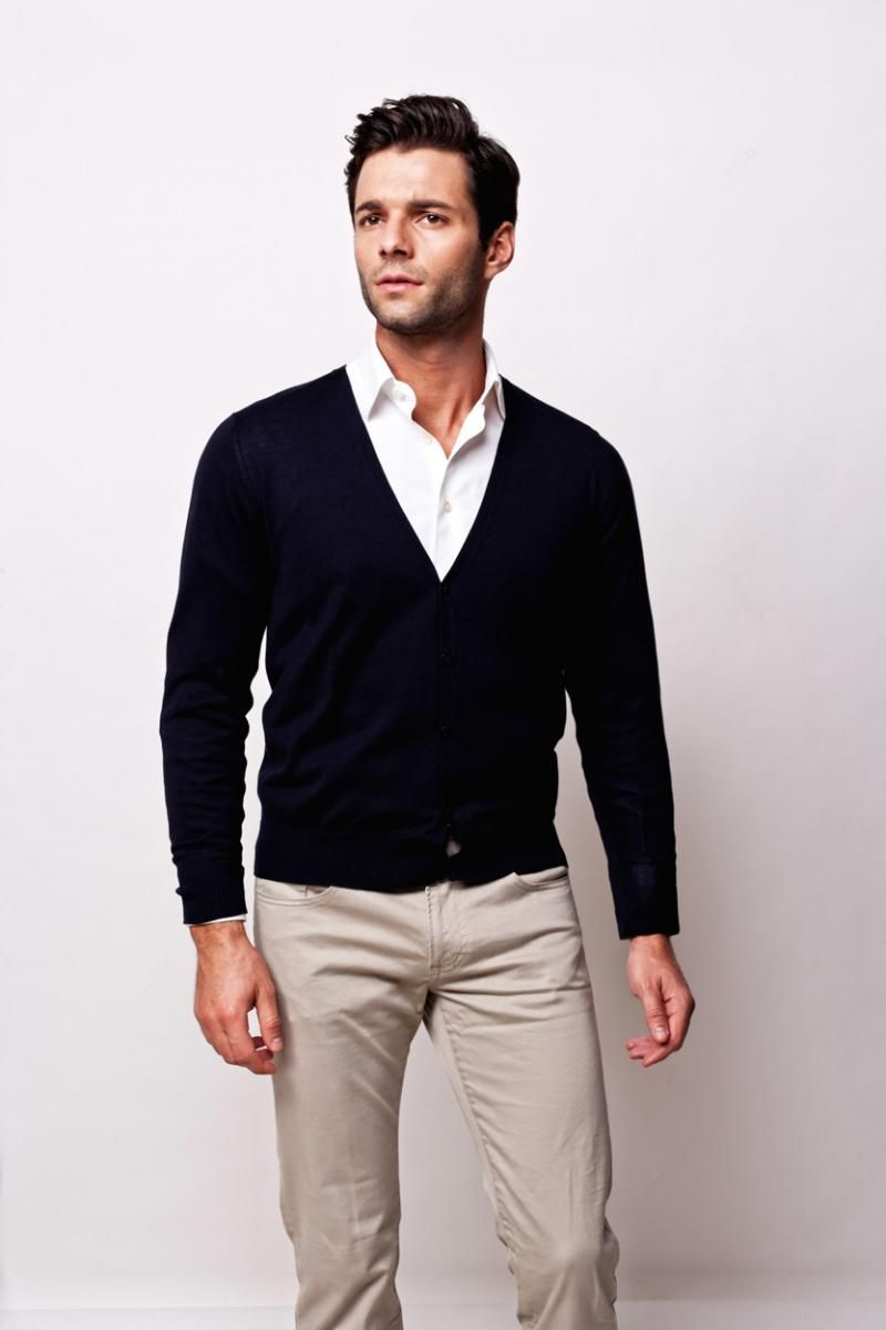 Navy Blue Cardigan, $102.00 | Men's Cardigans - Spring Summer 2012 ...