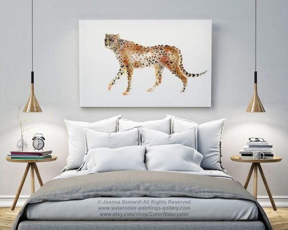 Cheetah Painting, Watercolor Animals, Abstract Home Decor, Animal ...