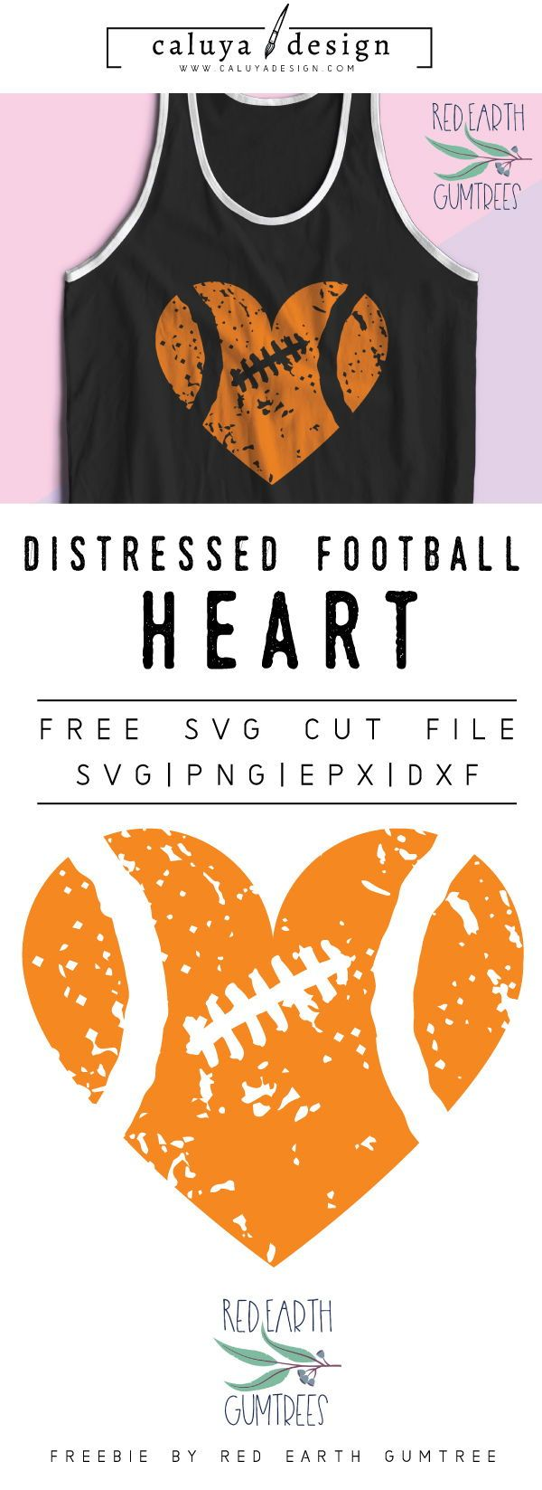FREE distressed football heart SVG cut file, Printable vector clip art download. Free printable clip art distressed football heart. Compatible with Cameo Silhouette, Cricut explore and other major cutting machines. free for personal use, only $3 for commercial use. Perfect for DIY craft project with Cricut & Cameo Silhouette, card making, scrapbooking, making planner stickers, making vinyl decals, decorating t-shirts with HTV and more! Free SVG cut file, free sport SVG cut file, Football cut…