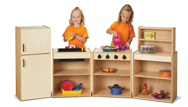 Young Time Play Kitchen 4 Piece Set 7080yt In 2020 Childrens Furniture Play Kitchen Furniture