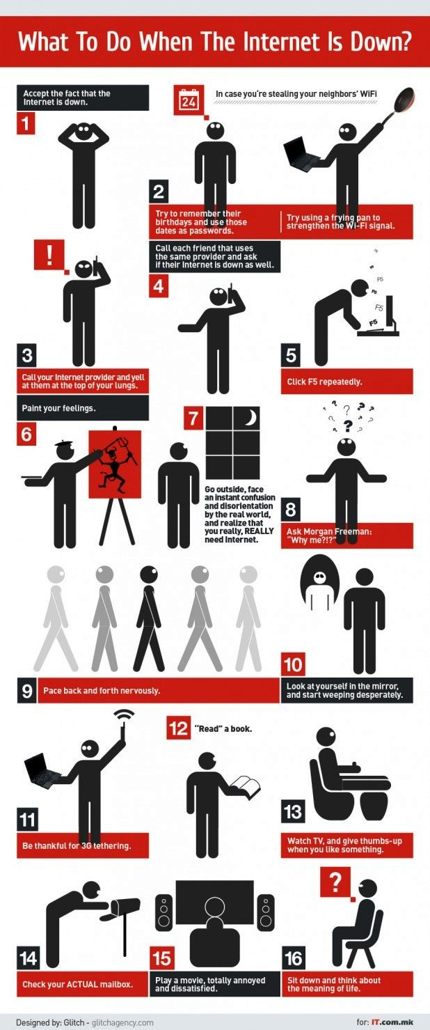What to do when the internet is down #infographic