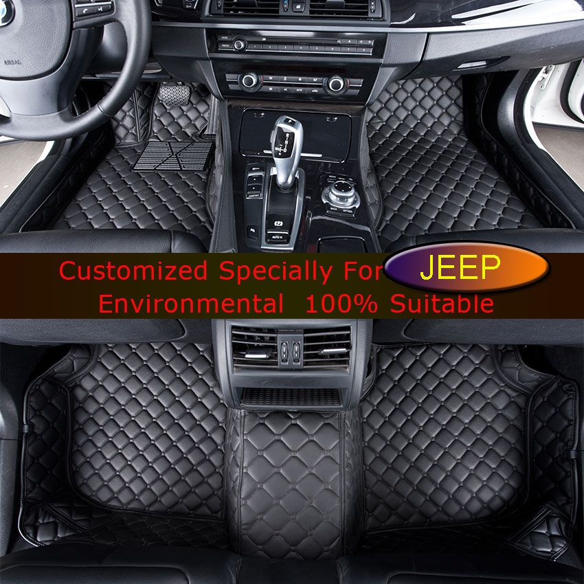 Car Floor Mats For Jeep Wrangler Commander Grand Cherokee Comp Patriot Customized Foot Rugs Custom Auto
