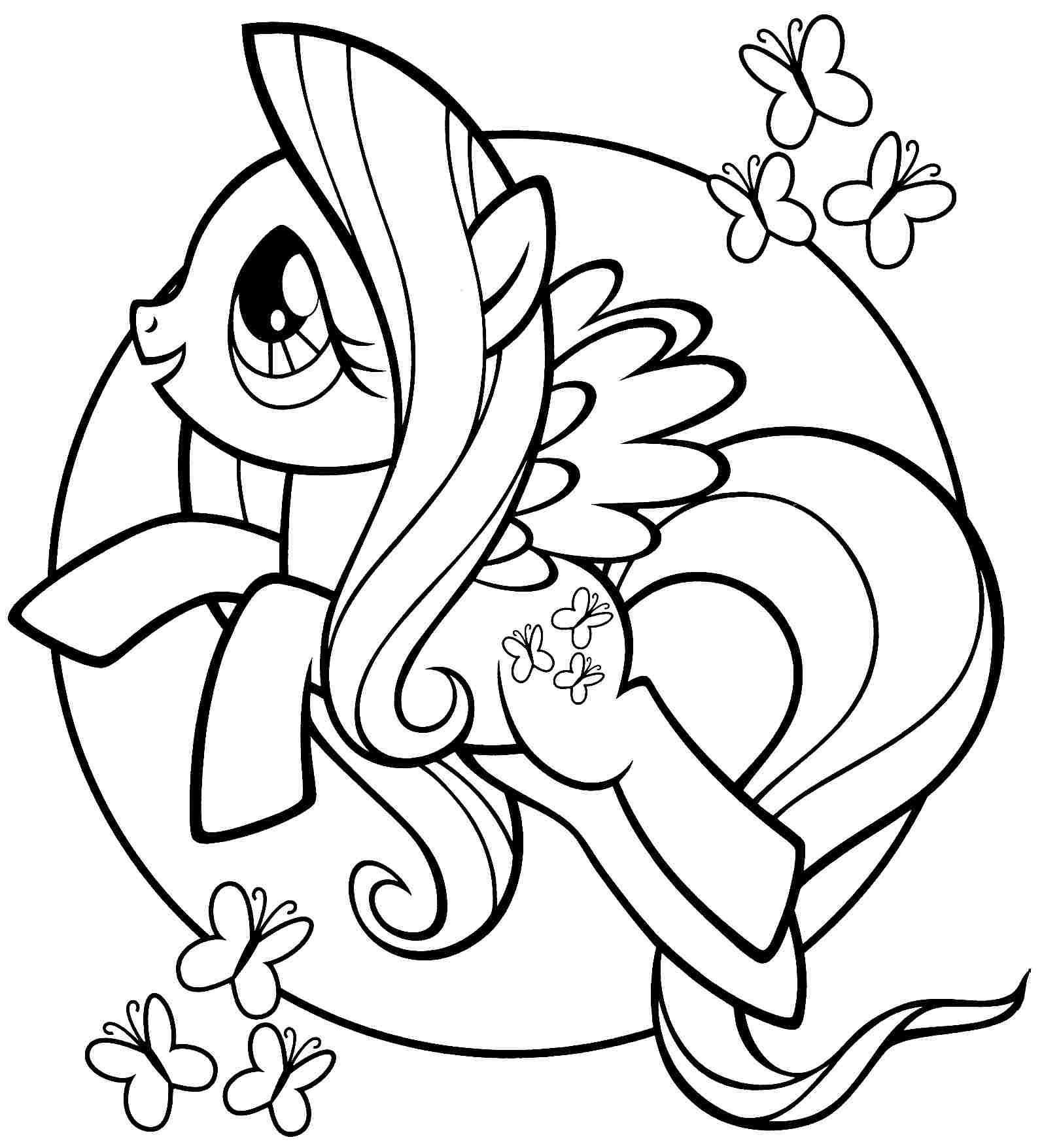 Ausmalbilder My Little Pony Fluttershy : Pin Ni Christian Malpartida Sa My Little Pony Pinterest