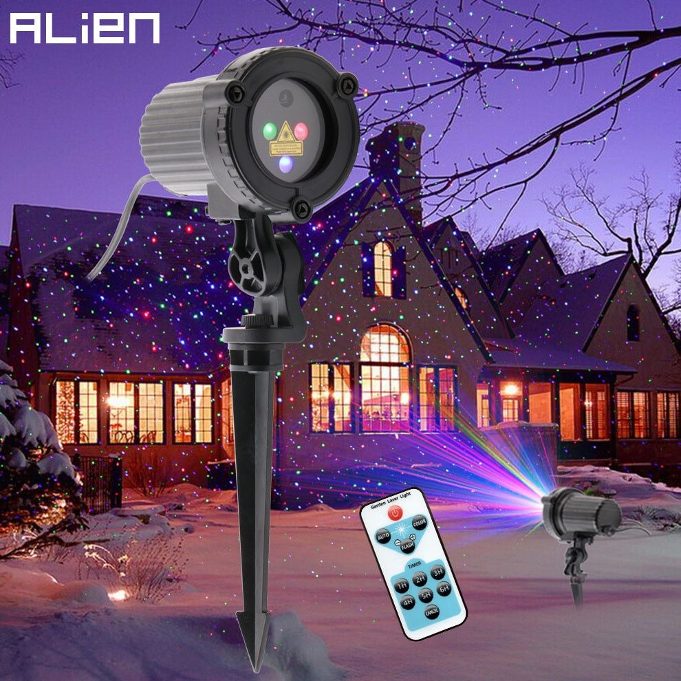Alien Rgb Remote Static Star Dots Laser Projector Light Garden Outdoor Waterproof Christmas Tree Xmas H In 2020 Shower Lighting Holiday Shower Outdoor Christmas Lights