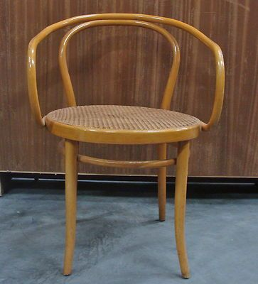Original Antique Thonet Bentwood Chair Curved Armrest B9 or 209
